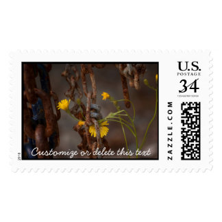 Invasive Flower; Customizable Greetings Postage Stamp