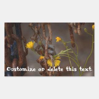 Invasive Flower; Customizable Greetings Rectangular Sticker