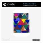 Invasores coloridos triangulares iPod touch 4G skin