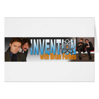 Invención con el logotipo de Brian Forbes Tarjeta De Felicitación