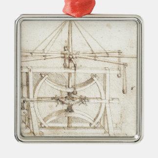 Invención de Leonardo Adorno Navideño Cuadrado De Metal