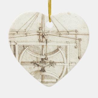 Invención de Leonardo Adorno Navideño De Cerámica En Forma De Corazón