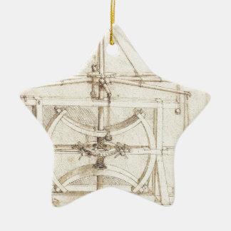 Invención de Leonardo Adorno Navideño De Cerámica En Forma De Estrella