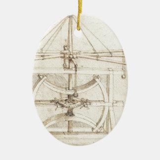 Invención de Leonardo Adorno Navideño Ovalado De Cerámica