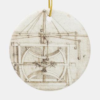 Invención de Leonardo Adorno Navideño Redondo De Cerámica
