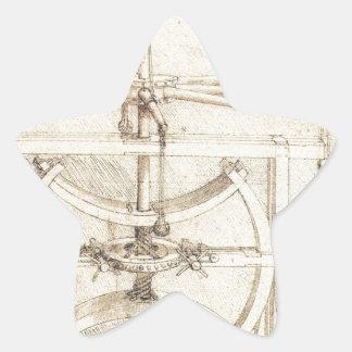 Invención de Leonardo Pegatina En Forma De Estrella