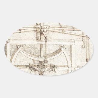 Invención de Leonardo Pegatina Ovalada