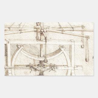 Invención de Leonardo Pegatina Rectangular