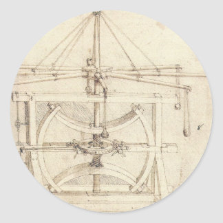 Invención de Leonardo Pegatina Redonda