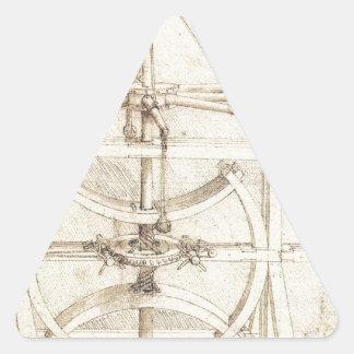 Invención de Leonardo Pegatina Triangular