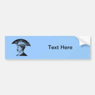 Invención de Steampunk del gorra del paraguas del  Etiqueta De Parachoque
