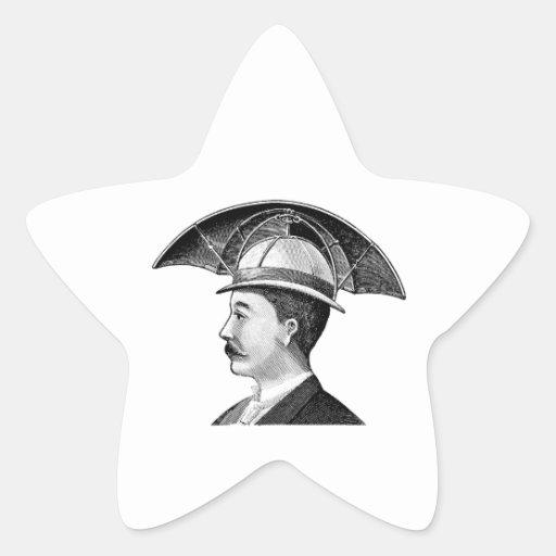 Invención de Steampunk del gorra del paraguas del Calcomanías Forma De Estrellas Personalizadas