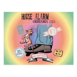 Invención divertida de la alarma de la seguridad tarjetas postales
