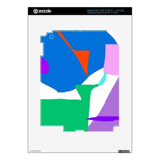 Invención hermosa de la naturaleza de la ruina de  pegatina skin para iPad 3