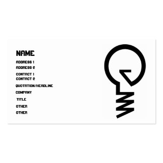 ''Invent'' Lightbulb Business Card