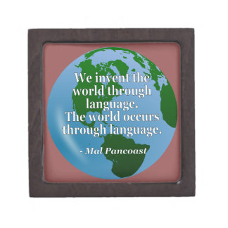 Invent world language Quote. Globe Jewelry Box