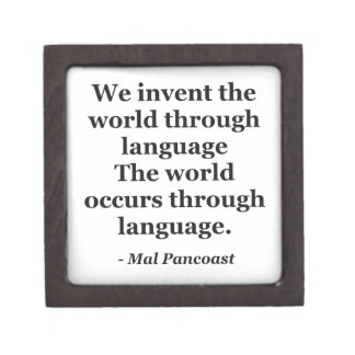 Invent world language Quote Jewelry Box