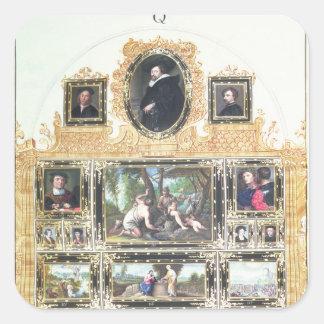 Inventario pintado f.Q del libro I de emperador Pegatina Cuadrada