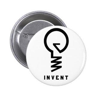 """""""Invente"""" el botón de la bombilla Pin Redondo De 2 Pulgadas"""