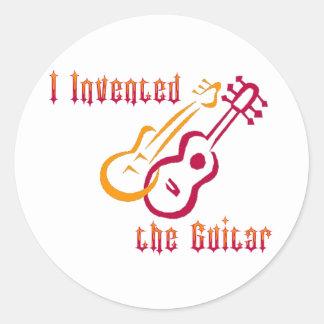 Inventé la guitarra etiqueta redonda