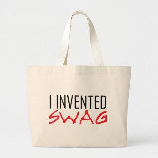 Inventé rojo del Swag Bolsa Tela Grande