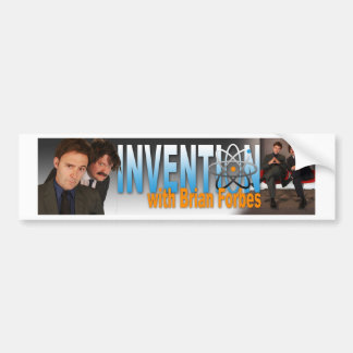 Invention with Brian Forbes Logo Bumper Sticker