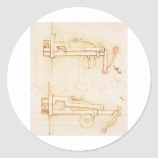 Inventions and constructions classic round sticker