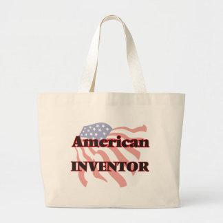 Inventor americano bolsa tela grande