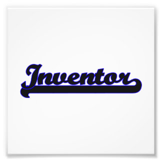 Inventor Classic Job Design Photo Print
