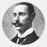 Inventor del capitalista de Juan Jacob del ~ de Pegatina Redonda