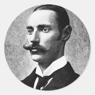 Inventor del capitalista de Juan Jacob del ~ de Pegatinas Redondas