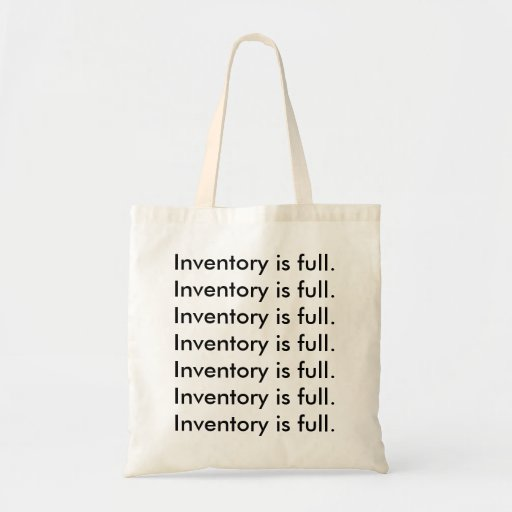 Inventory is full. canvas bag
