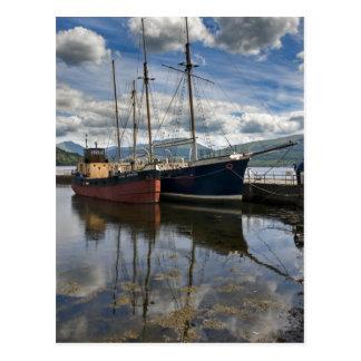 Inveraray Boats on Loch Fyne Postcard