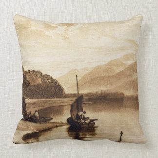Inverary Pier, 1859-61 (engraving) Pillow
