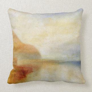 Inverary Pier, Loch Fyne, Morning, c.1840-50 (oil Throw Pillows