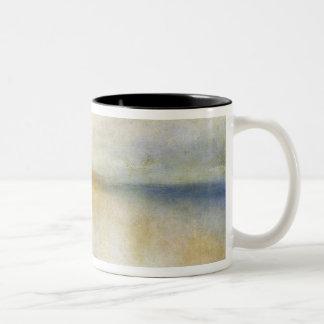 Inverary Pier, Loch Fyne, Morning, c.1840-50 (oil Two-Tone Coffee Mug