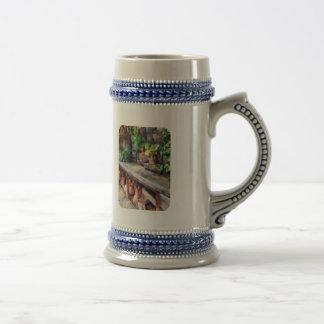 Invernadero con las macetas taza