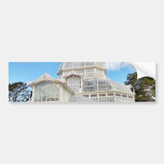 Invernadero de flores en Golden Gate Park en San Pegatina De Parachoque