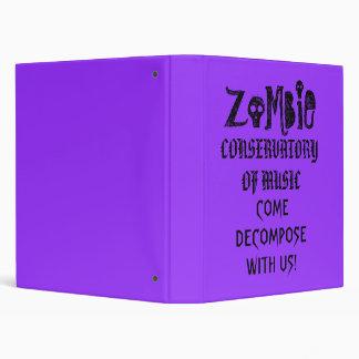 Invernadero del zombi de la carpeta de la música
