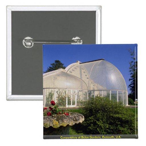 Invernadero en los jardines de Bicton, Exmouth, Re Pin