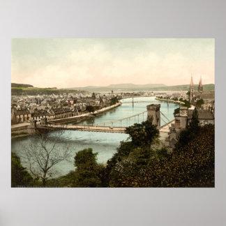 Inverness del castillo, Escocia Poster
