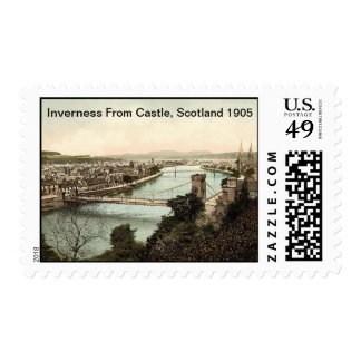 Inverness From Castle, Scotland 1905 Postage