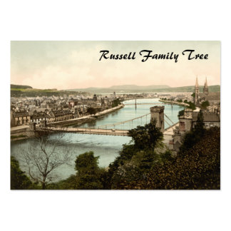 Inverness from the Castle, Scotland Business Card Template