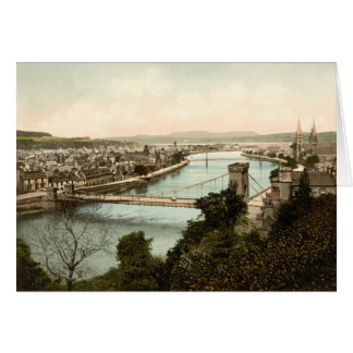 Inverness from the Castle, Scotland Card