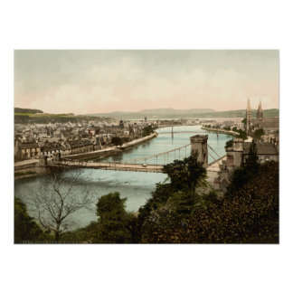 Inverness from the Castle, Scotland Poster