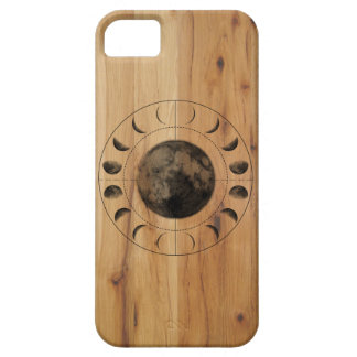 Inverse Moon Phases Darkwood Pattern iPhone 5/5S iPhone SE/5/5s Case