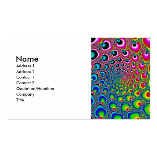 Inverse Spiral Business Card