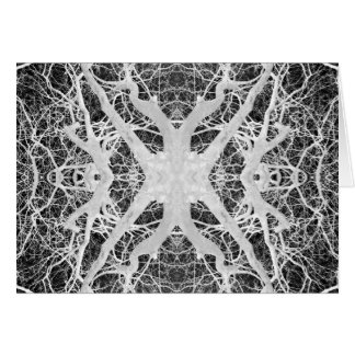 Inverse Treetop Spider's Web Card
