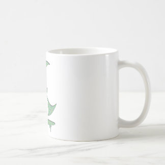 """Inversion Art """"Evil witch"""" - Green Dots / white Coffee Mugs"""