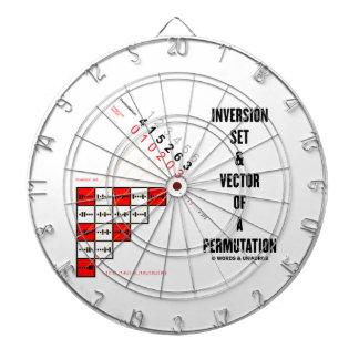 Inversión fijada y vector de una permutación tablero dardos